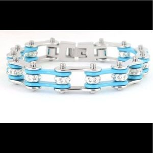 Jewelry - Motorcycle Stainless Steel Turquoise Bracelet